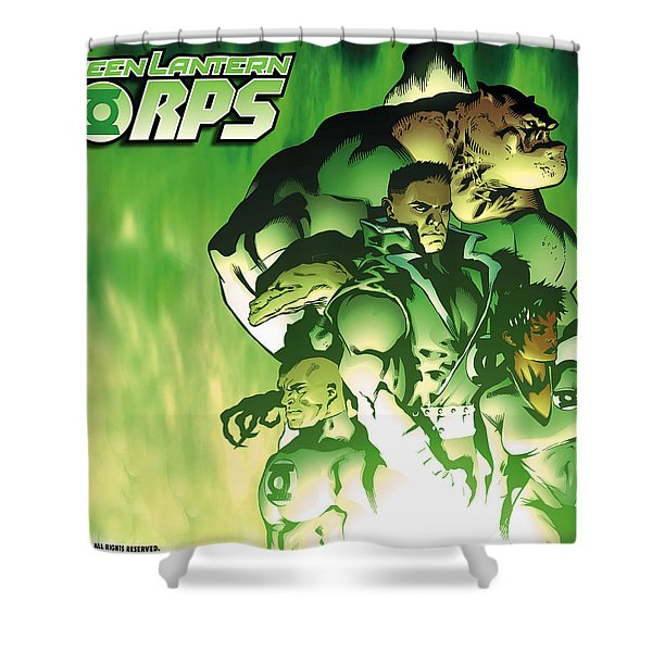Green Lantern Corps Shower Curtain