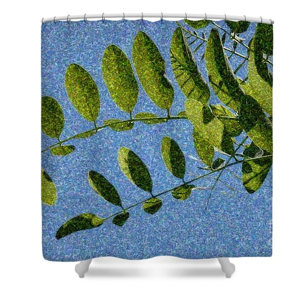 Green Leaves 2 Shower Curtain