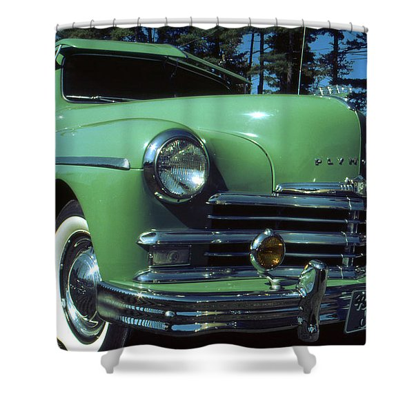 American Limousine 1957 - Historic Car Photo Shower Curtain