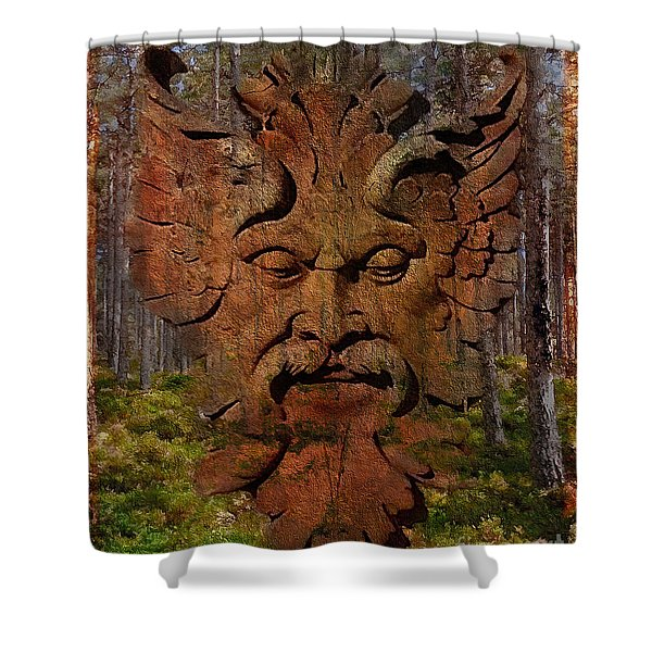 Green Man Of The Forest 2016 Shower Curtain