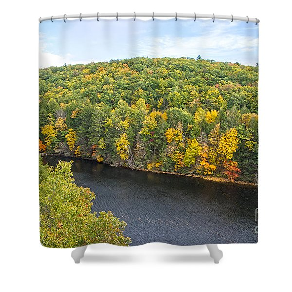 Green Mixture Shower Curtain