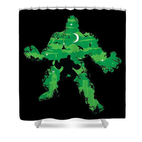 Green Monster Shower Curtain