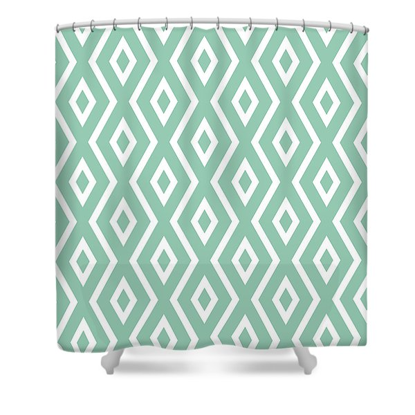 Light Sage Green Pattern Shower Curtain