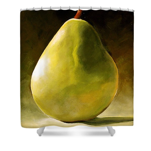 Green Pear Shower Curtain