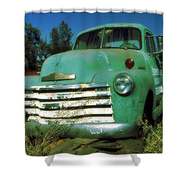 Green Pickup Truck 1959 Shower Curtain