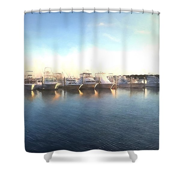 Green Pond Harbor Shower Curtain
