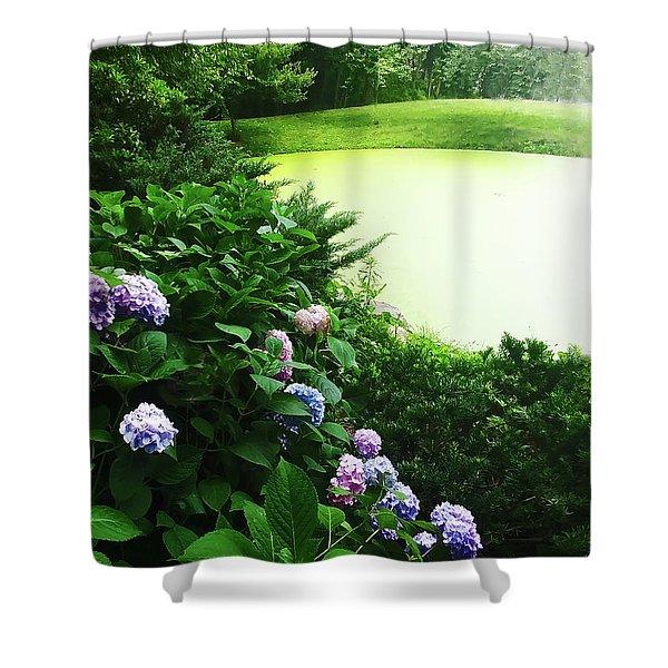 Green Pond Shower Curtain