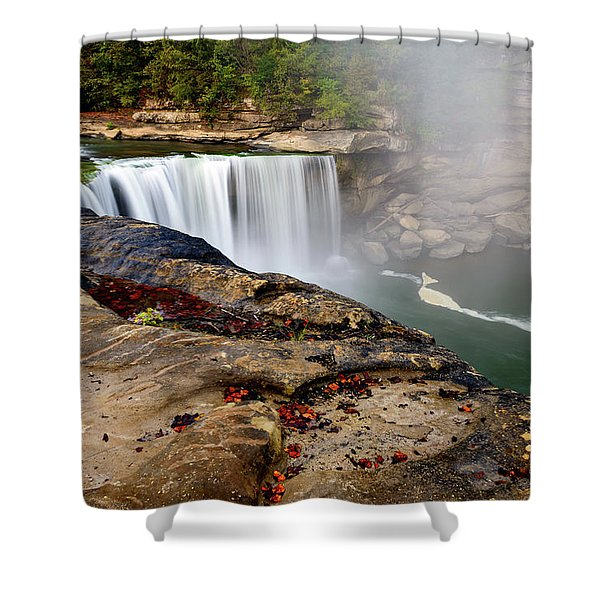 Green River Falls Shower Curtain