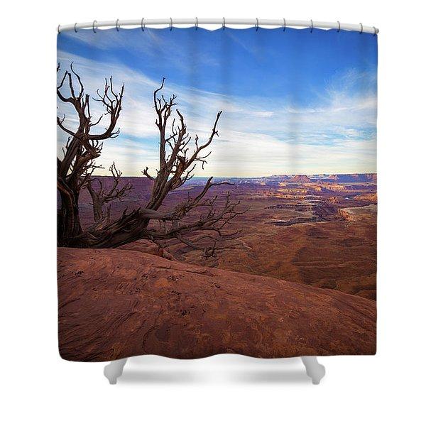 Green River Overlook Shower Curtain