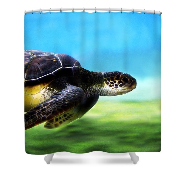 Green Sea Turtle 2 Shower Curtain