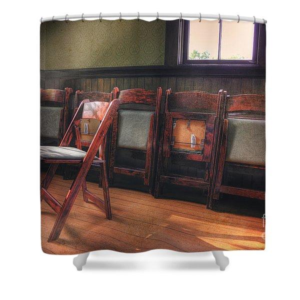 Green Seat Chair # 2 Shower Curtain