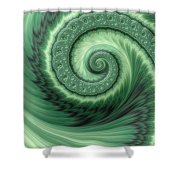 Green Shell Shower Curtain