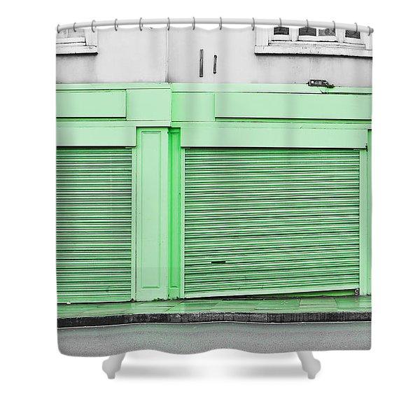 Green Shutters Shower Curtain