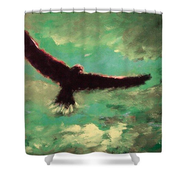 Green Sky Shower Curtain