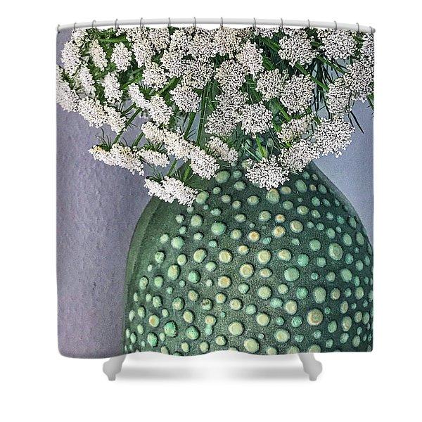 Green Slip Still Shower Curtain
