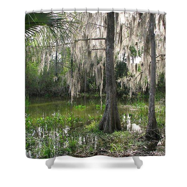 Green Swamp Shower Curtain