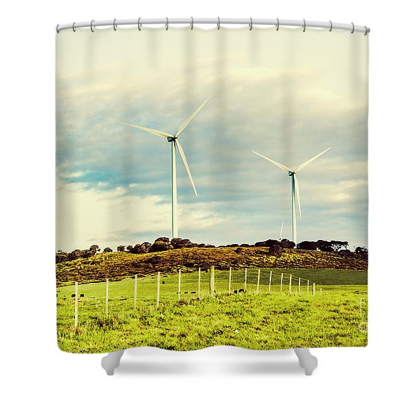 Green Tasmania Shower Curtain