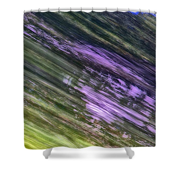 Green With Some Purple Shower Curtain
