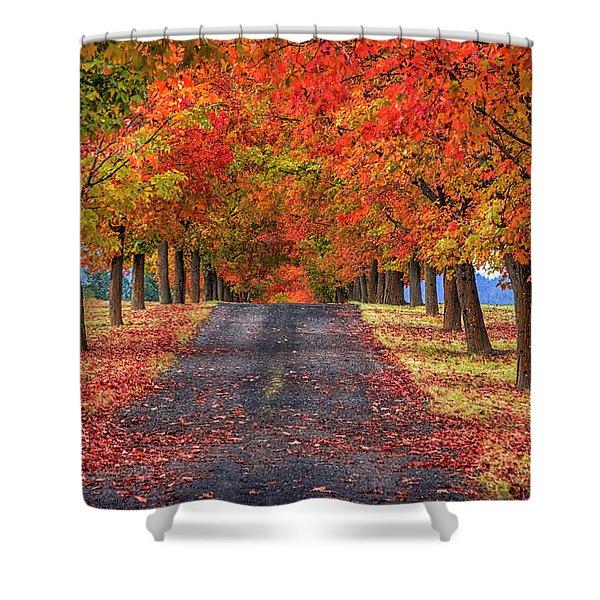 Greenbluff Autumn Shower Curtain