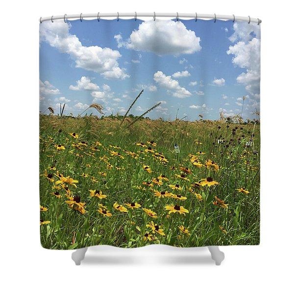 Greener Pastures In Heaven Shower Curtain