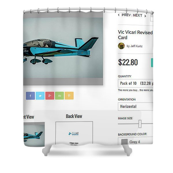 Greeting Cards - $22.80/10 Shower Curtain