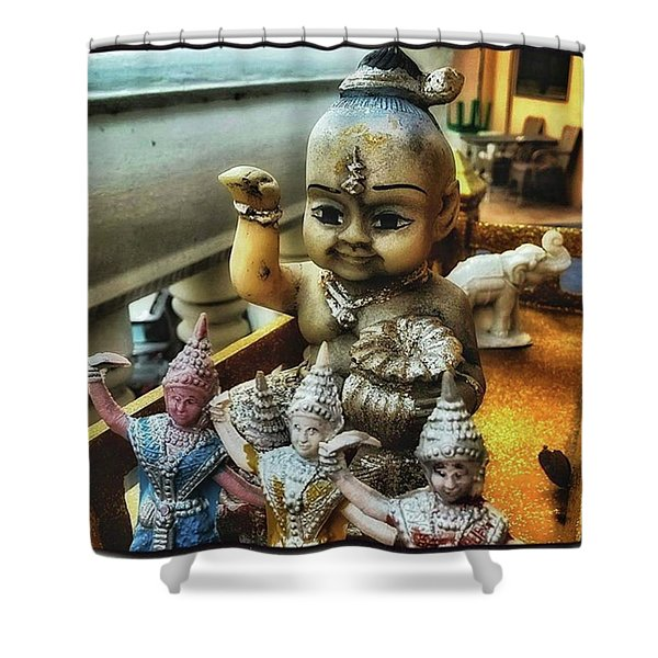 Shower Curtain featuring the photograph Greetings From Thailand. These Jolly by Mr Photojimsf