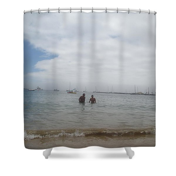 Greetings From The Beach Shower Curtain