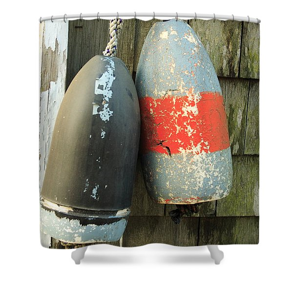 Grey Bouys Shower Curtain