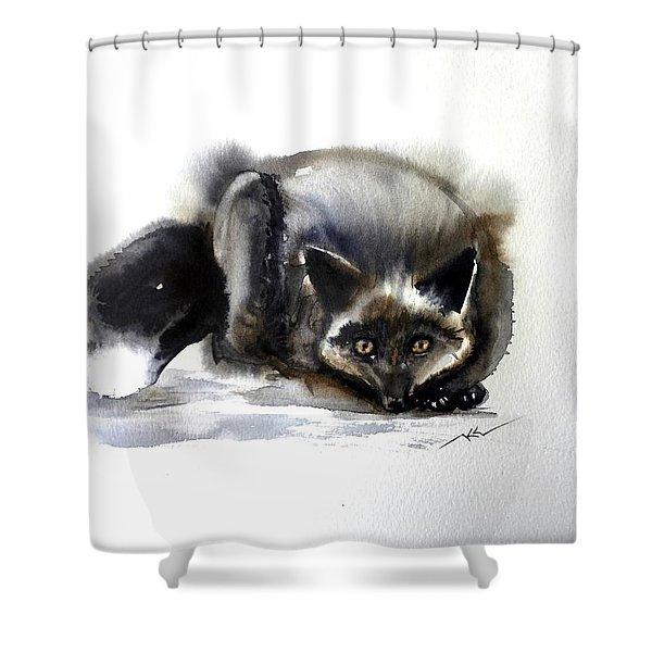 Grey Fox 1 Shower Curtain