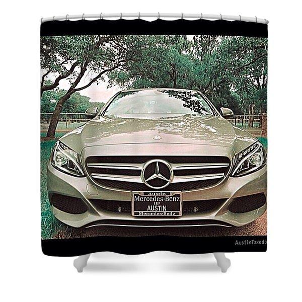 #grey #sky And A #silver Grey #car Shower Curtain