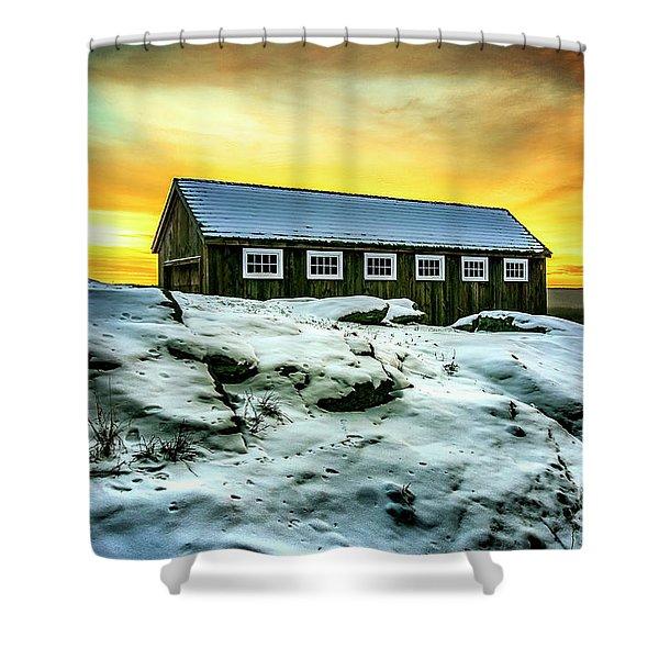 Greyledge Full Color Sunrise Shower Curtain