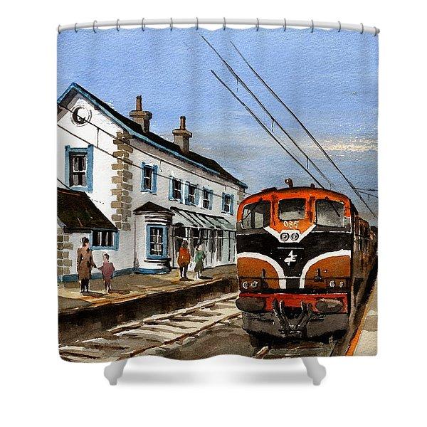 Greystones Railway Station Wicklow Shower Curtain