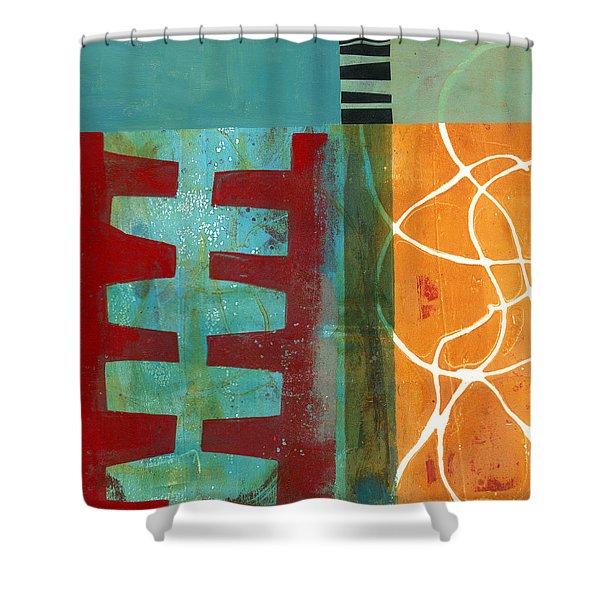 Grid Print 12 Shower Curtain