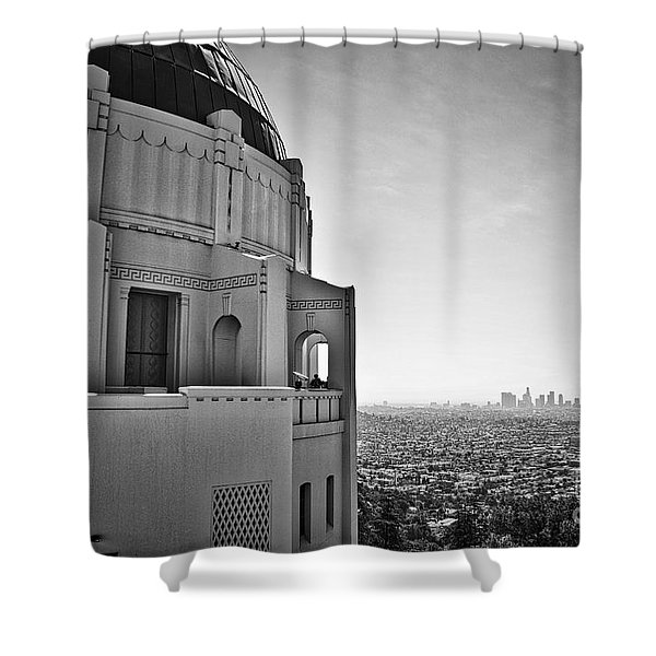 Griffith Observatory And Downtown Los Angeles Shower Curtain