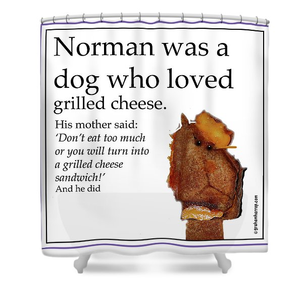 Grilled Cheese Dog Shower Curtain