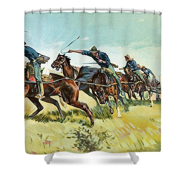 Grimes's Battery Going Up El Pozo Hill Shower Curtain