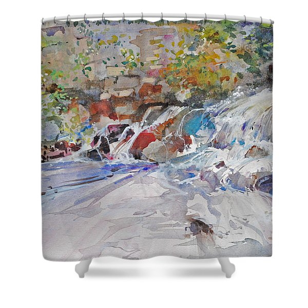Grist Mill Spill Way Shower Curtain