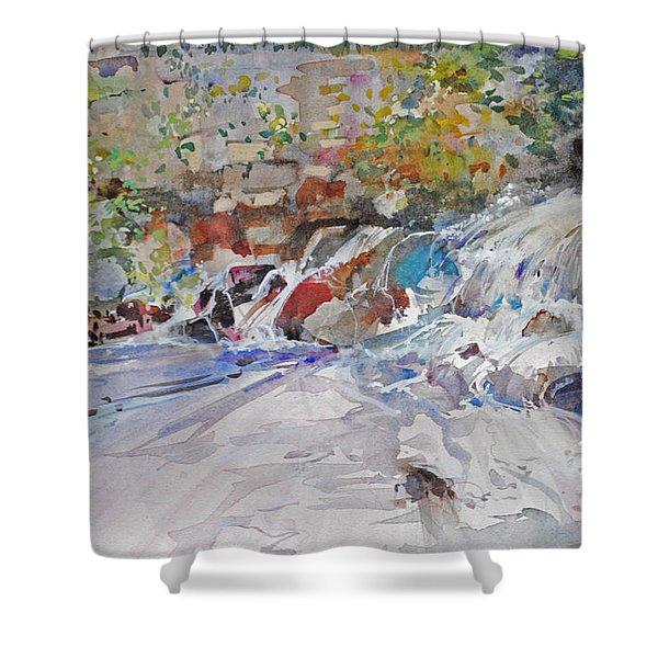 Grist Mill Spill Way Shower Curtain