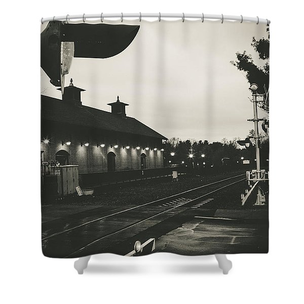 Gritty Railroad Crossing Shower Curtain