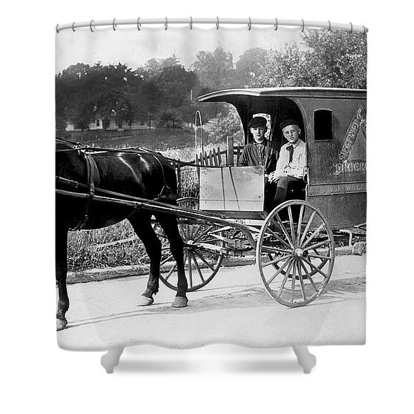 Grocery Store Buggy Shower Curtain