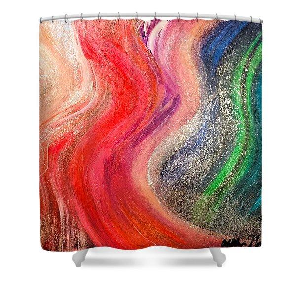 Groovy Mademoiselle Shower Curtain