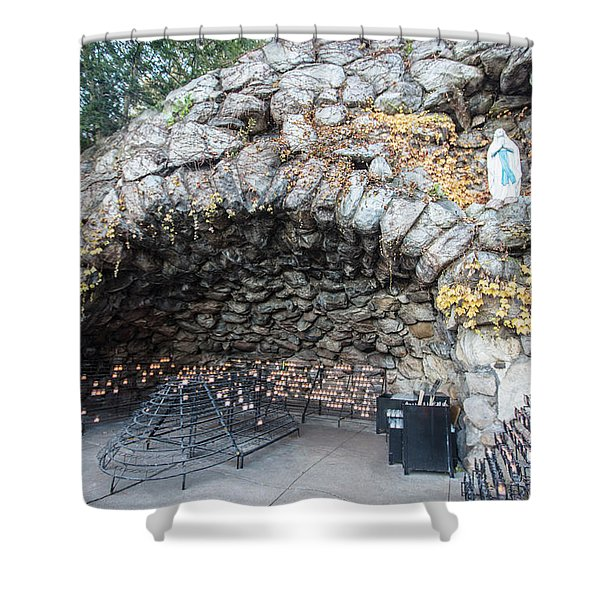 Grotto Of Our Lady Of Lourdes 2 Shower Curtain