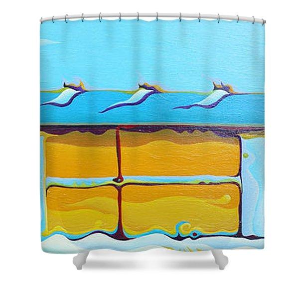 Grow House Groove-on Shower Curtain
