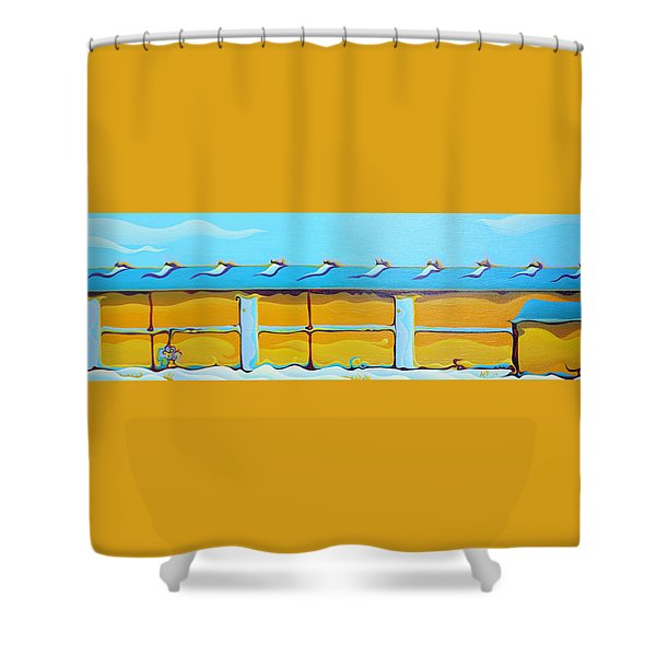 Grow House Groove-on Shower Curtain