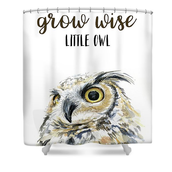 Grow Wise Little Owl Shower Curtain