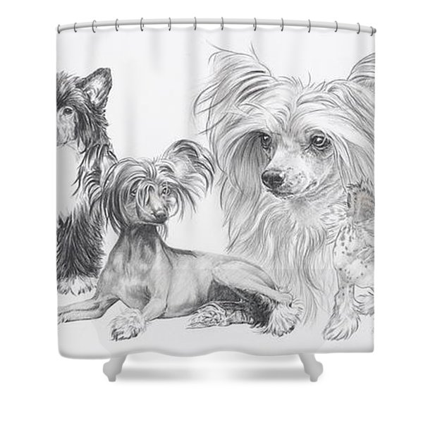 The Chinese Crested And Powderpuff Shower Curtain
