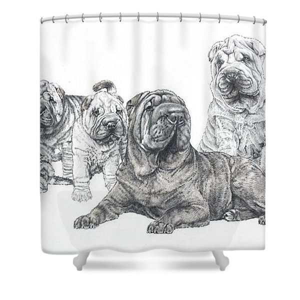 Mister Wrinkles And Family Shower Curtain