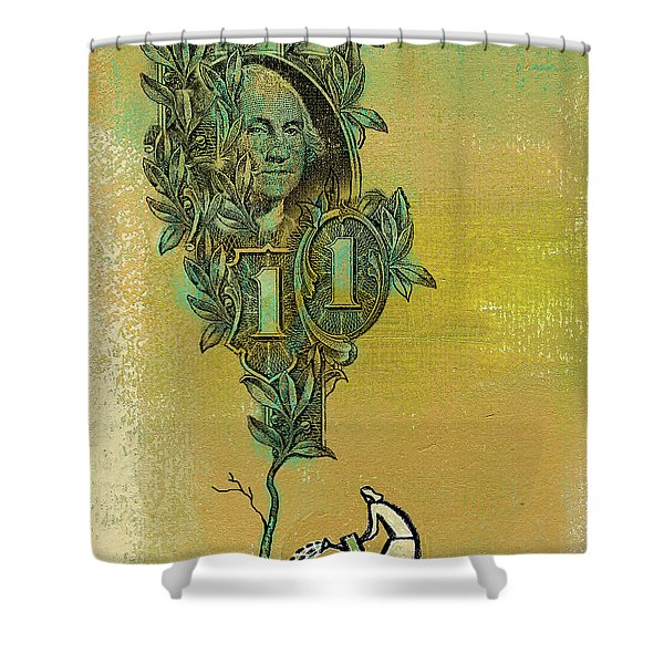 Growing Your Money Shower Curtain