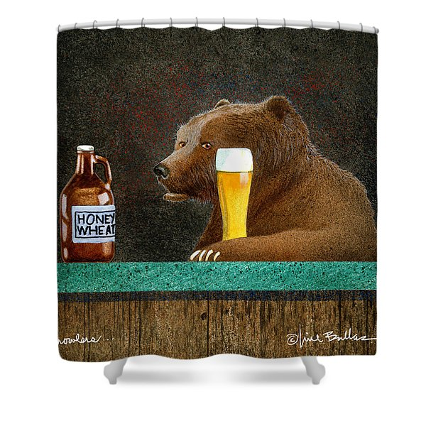 Growlers Shower Curtain