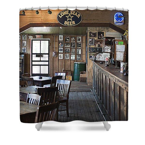 Gruene Hall Bar Shower Curtain